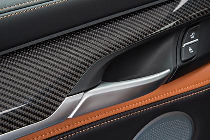 BMW X6 F16 Innenansicht Detail Türverkleidung statisch Carbon