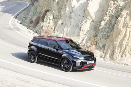 Land Rover Range Rover Evoque Coupé L538 Aussenansicht Front schräg dynamisch schwarz