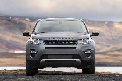 Land Rover Discovery Sport L550 Aussenansicht Front statisch grau