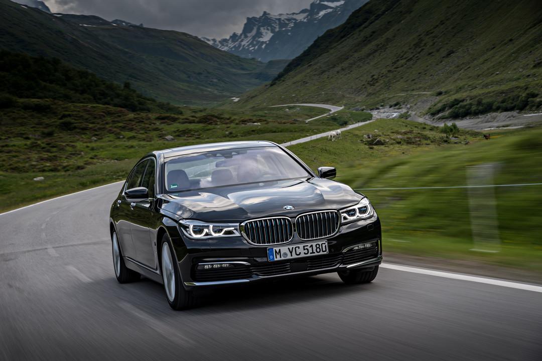 BMW 7er G11 G12 Aussenanansicht Front Dynamisch Grau