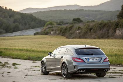 Mercedes-AMG CLS  Shooting Brake X218 Aussenansicht Heck schräg statisch silber