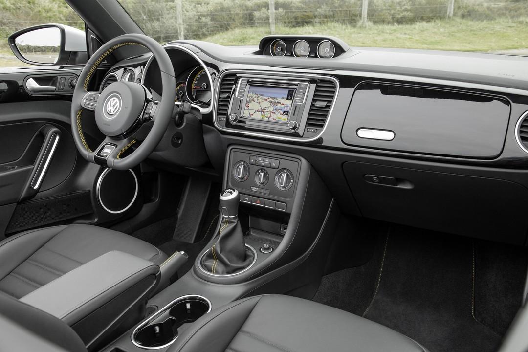 Vw Beetle Cabrio Innenansicht Beifahrerposition Statisch Schwarz