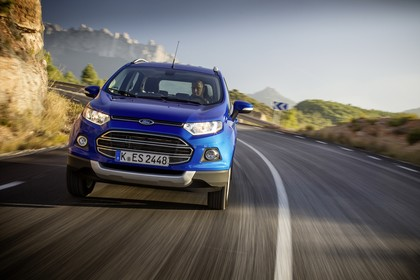 Ford EcoSport B515 Front dynamisch blau