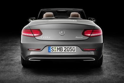 Mercedes-Benz C-Klasse Cabriolet A205 Aussenansicht Heck statisch Studio grau