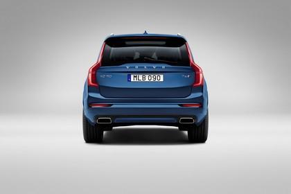 Volvo XC90 L Aussenansicht Heck statisch Studio blau