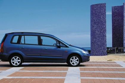 Mazda Premacy CP Aussenansicht Seite statisch blau