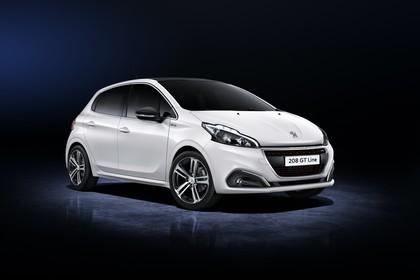 Peugeot 208 A9 Aussenansicht Front schräg statisch Studio weiss