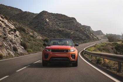 Land Rover Range Rover Evoque Cabrio L538 Aussenansicht Front dynamisch orange