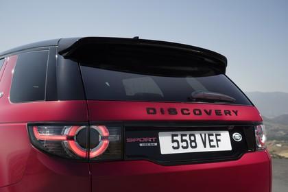 Land Rover Discovery Sport L550 Aussenansicht Detail statisch rot Rückleuchten