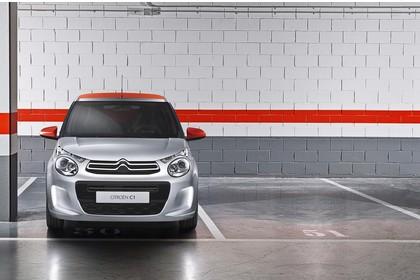 Citroën C1 P Aussenansicht Front statisch silber