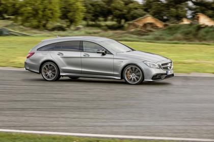 Mercedes-AMG CLS  Shooting Brake X218 Aussenansicht Seite dynamisch silber