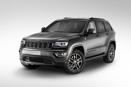 Jeep Grand Cherokee WL Aussenansicht Front schräg statisch schwarz