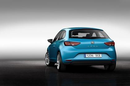 SEAT Leon SC 5F Heck schräg statisch studio blau