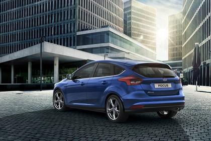 Ford Focus Schrägheck Mk3 Heck schräg statisch blau