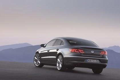 VW CC 3C/35 Facelift Aussenansicht Heck schräg statisch grau