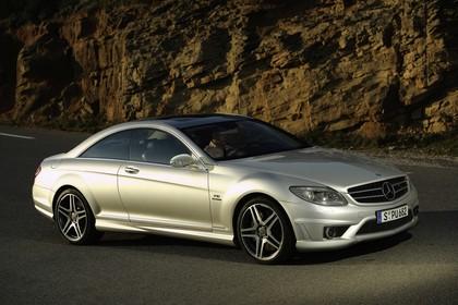 Mercedes CL C216 Aussenansicht Front schräg statisch silber