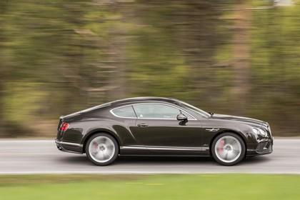 Bentley Continental GT Speed Aussenansicht Seite dynamisch grau