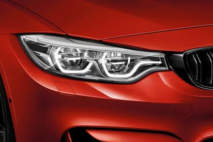 BMW M4 Coupe F82 Aussenansicht Detail Scheinwerfer statisch rot