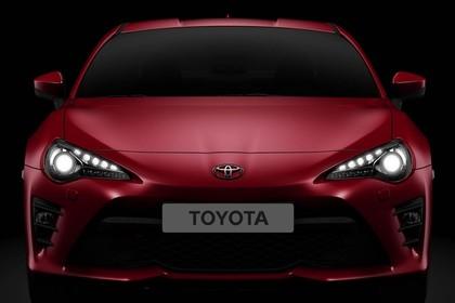 Toyota GT86 ZN6 Aussenansicht Front statisch Studio rot