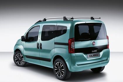 Fiat Qubo 225 Aussenansicht Heck schräg statisch blau