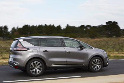 Renault Espace RFC Aussenansicht Seite schräg dynamisch grau