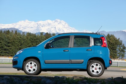 Fiat Panda 319 Aussenansicht Seite statisch blau