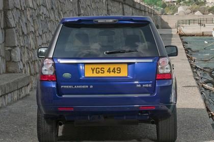 Land Rover Freelander 2 LF Facelift Aussenansicht Heck statisch blau