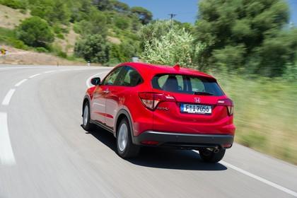Honda HR-V RU Aussenansicht Heck schräg dynamisch rot