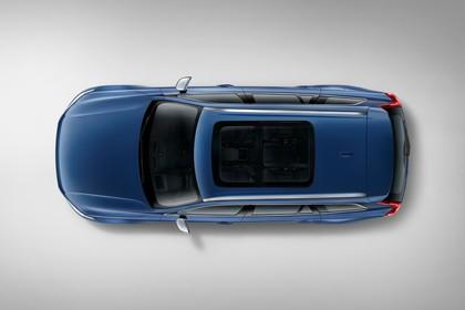 Volvo XC90 L Aussenansicht Draufsicht statisch Studio blau