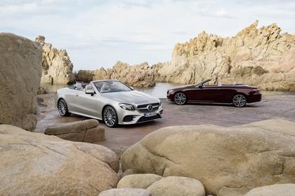 Mercedes-Benz E-Klasse Cabriolet A238 Aussenansicht Front Seite schräg statisch beige braun