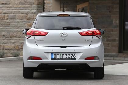 Hyundai i20 GB Aussenansicht Heck statisch silber