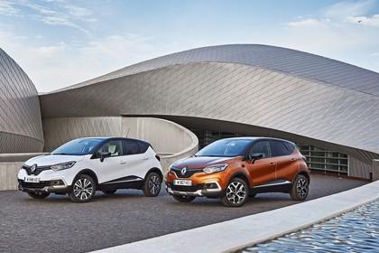 Renault Captur R Aussenansicht Front schräg statisch weiss orange