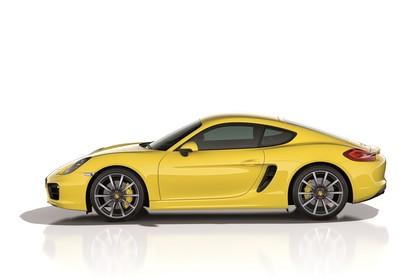 Porsche Cayman (981) Aussenansicht Seite Studio statisch gelb