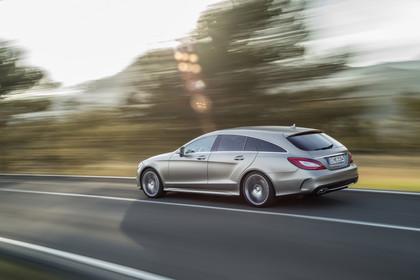 Mercedes-Benz CLS Shooting Brake X218 Aussenansicht Heck schräg dynamisch silber