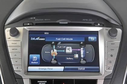 Hyundai ix35 Fuel Cell EL Innenansicht Detail statisch schwarz silber Entertainment