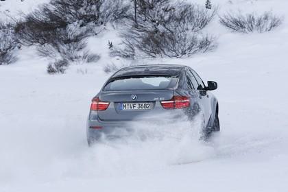 BMW X6 E71 LCI Aussenansicht Heck schräg dynamisch grau