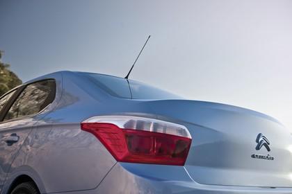 Citroën C-Elysee Aussenansicht Heck schräg statisch Detail Rückleuchte links