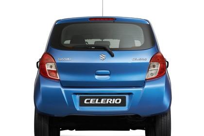 Suzuki Celerio Aussenansicht Heck statisch Studio blau