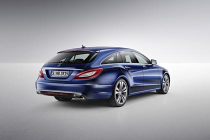 Mercedes-Benz CLS Shooting Brake X218 Aussenansicht Heck schräg Studio statisch blau