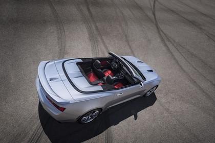 Chevrolet Camaro SS Cabrio Aussenansicht Heck schräg erhöht statisch silber