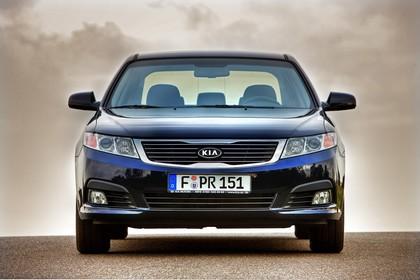 Kia Magentis MG Facelift Aussenansicht Front statisch dunkelblau