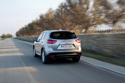 Mazda CX-5 KE Aussenansicht Heck schräg dynamisch silber
