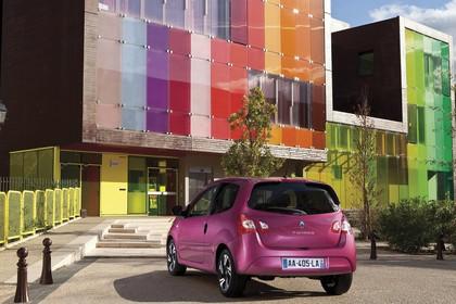 Renault Twingo N Facelift Dreitürer Aussenansicht Heck schräg statisch violett