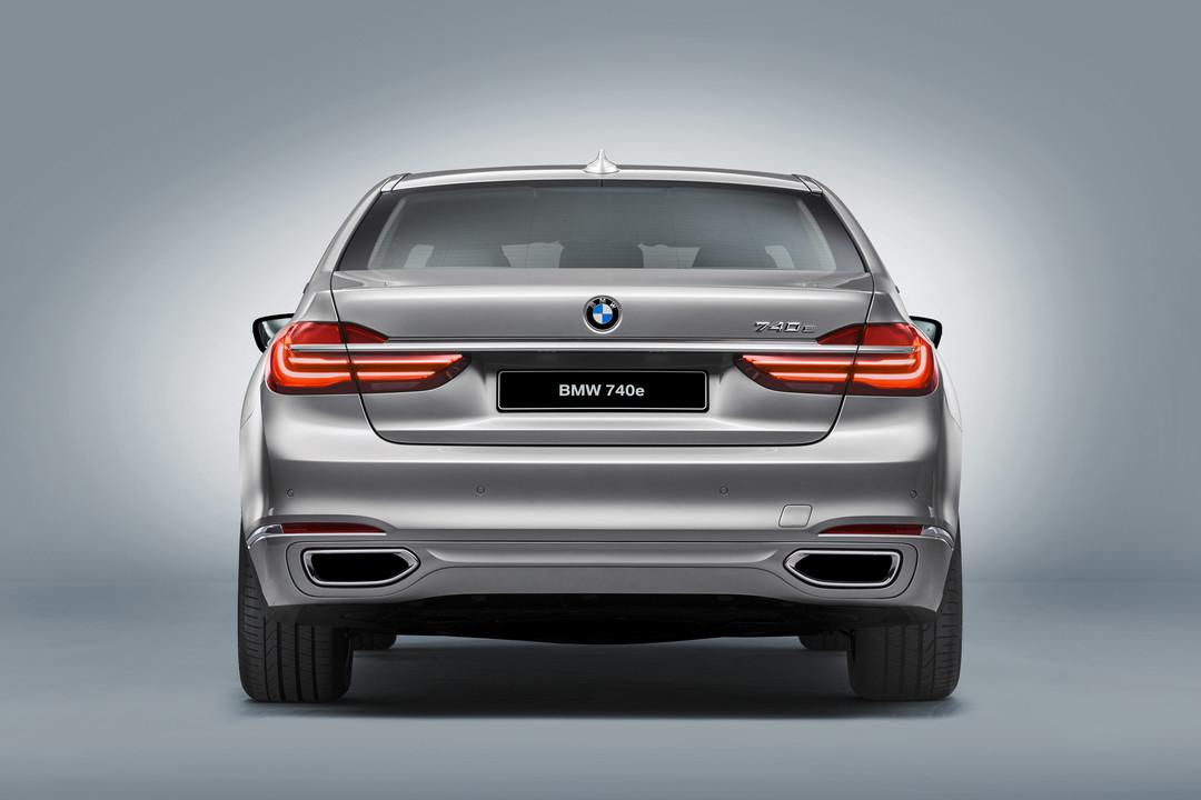 BMW 7er G11 G12 Aussenanansicht Heck Studio Statisch Silber