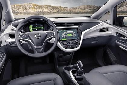 Opel Ampera-e Innenansicht Fahrerposition statisch schwarz