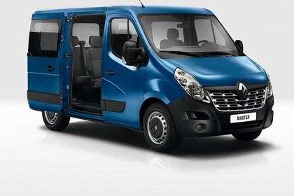 Renault Master 3 Combi Aussenansicht Front schräg statisch Studio blau