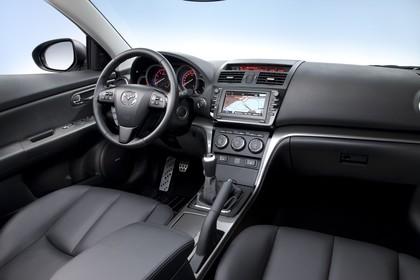 Mazda 6 Limousine GH Studio Innenansicht Beifahrerposition statisch schwarz