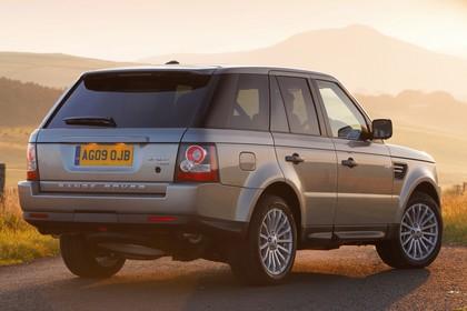 Land Rover Range Rover Sport LS Aussenansicht Heck schräg statisch silber