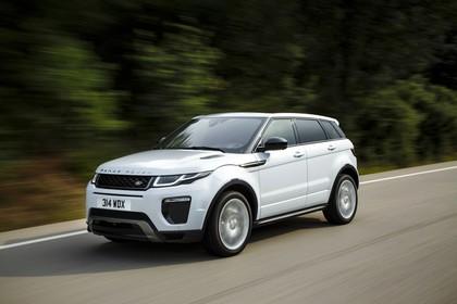 Land Rover Range Rover Evoque Coupé L538 Aussenansicht Front schräg dynamisch weiß