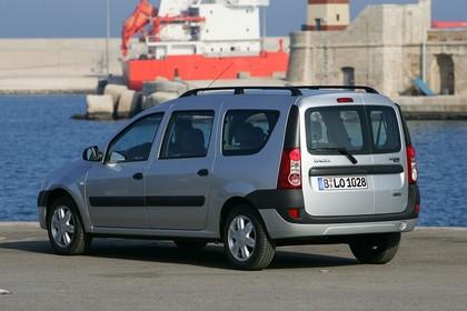 Dacia Logan MCV Aussenansicht Heck schräg statisch silber